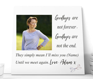 Personalised Memorial Ceramic Plaque - Until We Meet Again PureEssenceGreetings