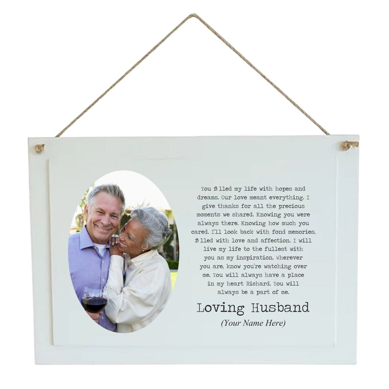 Personalised Memorial Plaque | A Part of Me | Husband | Wife PureEssenceGreetings