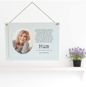 Personalised Memorial Plaque | A Part of Me | Mum | Dad | Nan | Grandad - PureEssenceGreetings