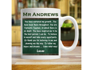 Personalised Teacher Mug | Inspirational PureEssenceGreetings