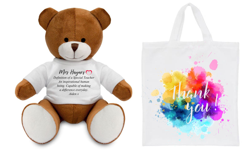 Personalised Teacher Teddy Bear PureEssenceGreetings