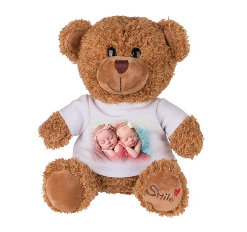 Personalised Teddy Bear T-Shirt - Own Image/Text PureEssenceGreetings