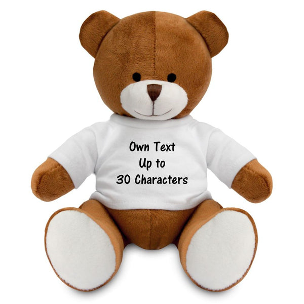 Personalised Teddy Bear with T-shirt PureEssenceGreetings