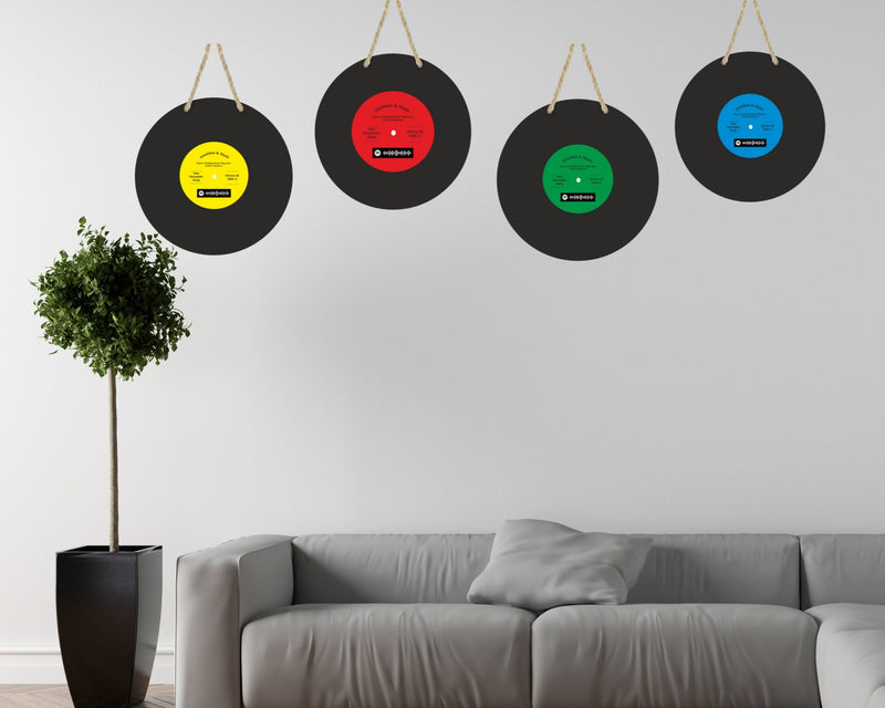 Personalised Vinyl Record Design Wood Plaque with Spotify Code (optional) PureEssenceGreetings