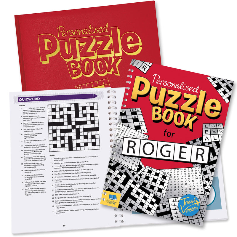 Personalised Puzzle Book - PureEssenceGreetings