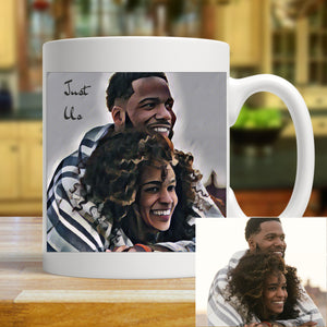 Retro Pop Personalised Photo Mug | Pic to Painting PureEssenceGreetings