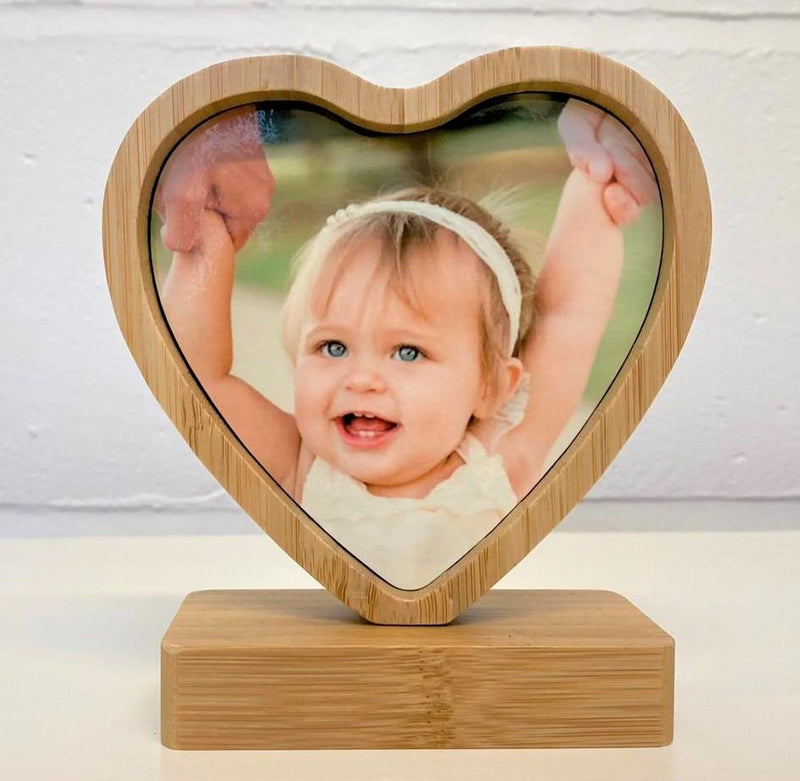 Revolving Heart Photo Plaque Heart Plaque PureEssenceGreetings