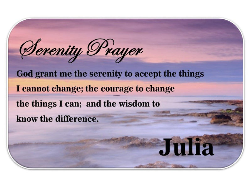 Serenity Prayer Personalised Wallet Card - PureEssenceGreetings
