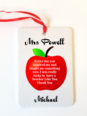 Teacher Car Freshener | Inspired - PureEssenceGreetings