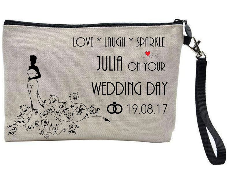 Bride To Be Personalised Make Up Bag - PureEssenceGreetings