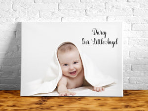 Personalised Canvas - Your Own Message/Image | Landscape
