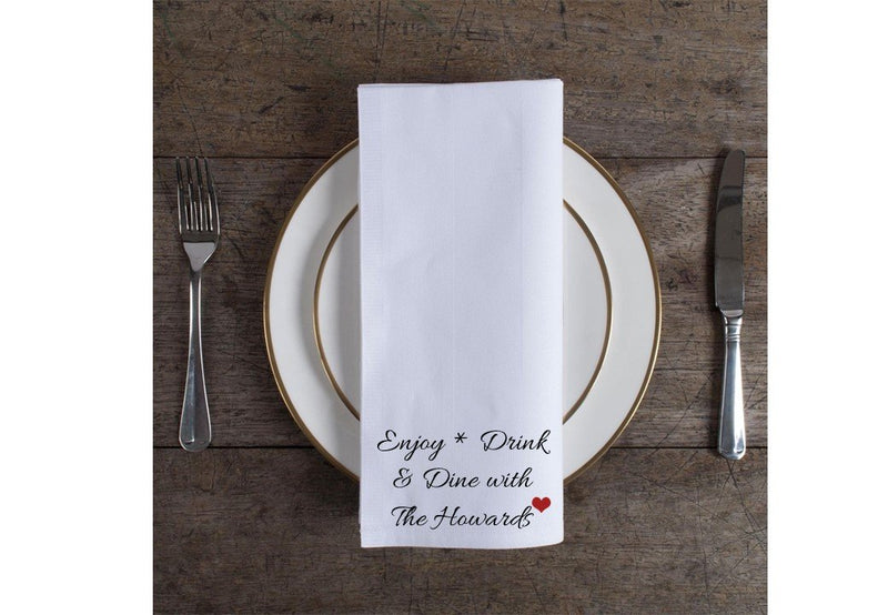 Personalised Table Napkins