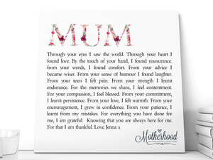 Mum Personalised Ceramic Plaque - PureEssenceGreetings
