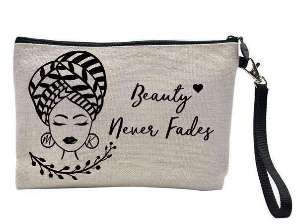 Beauty Never Fades Personalised Make Up Bag - PureEssenceGreetings