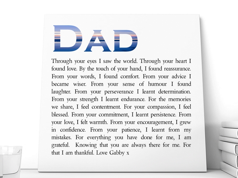 Personalised Dad Ceramic Plaque | Thankful Grateful - PureEssenceGreetings