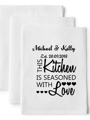 Kitchen of Love Personalised Tea Towel - PureEssenceGreetings