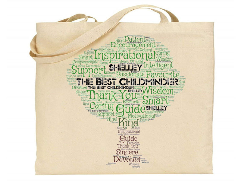 Personalised Child Minder Word Art Bag