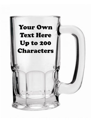 Personalised Beer Mug Your Own Text