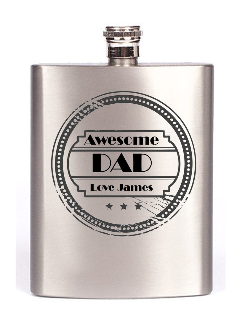 Personalised Dad Hip Flask