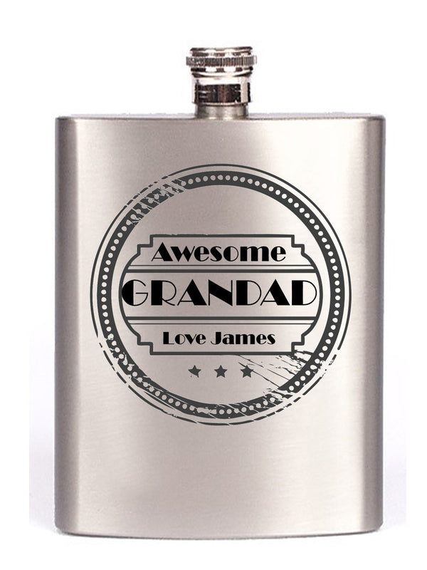 Personalised Grandad Hip Flask