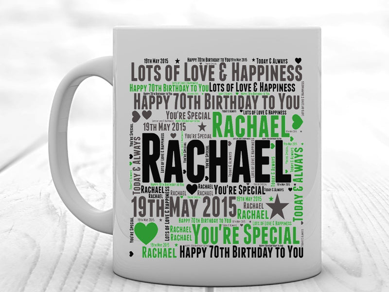 Personalised Birthday Mug. Suitable for any age. 13th 16th 18th 21st 25th 30th 40th 50th 60th 70th 80th 90th - PureEssenceGreetings