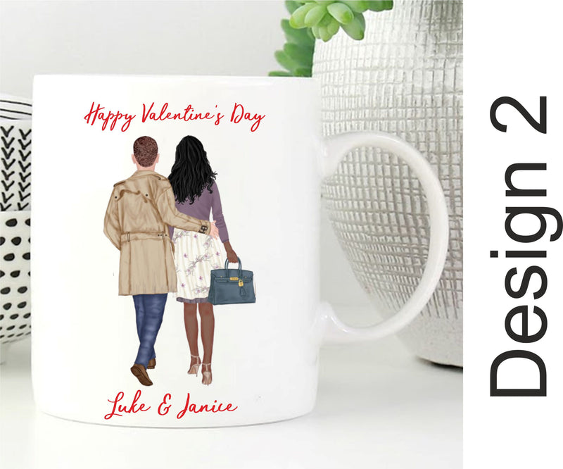 Stylish Build a Couple Personalised Mug PureEssenceGreetings
