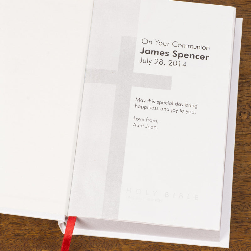 Personalised King James Bible - PureEssenceGreetings