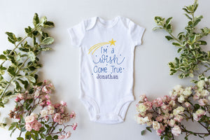 Wish Come True Personalised Babygro PureEssenceGreetings