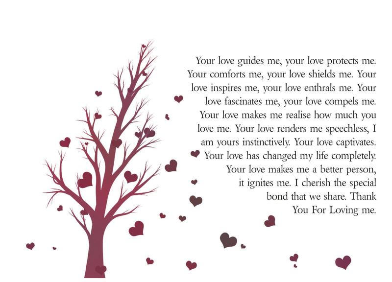 Your Love Personalised Framed Poem PureEssenceGreetings