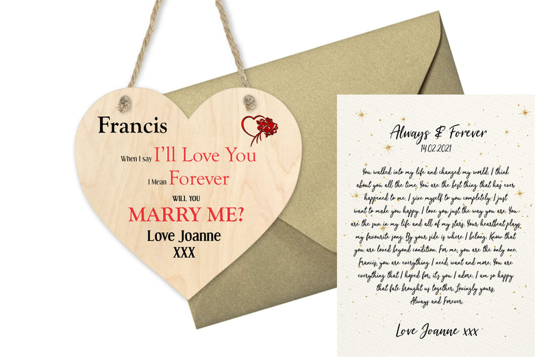 Always & Forever Personalised Love Cushion - PureEssenceGreetings