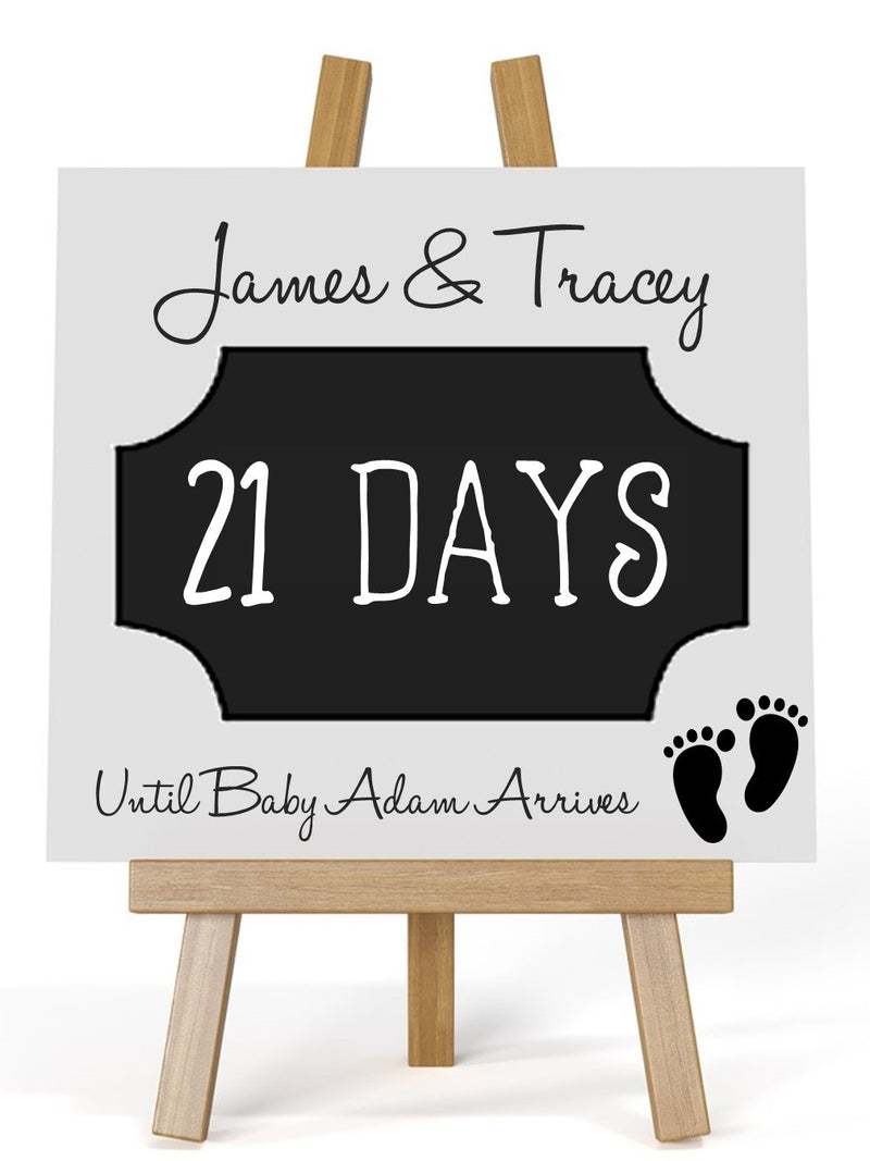 Personalised Baby Countdown Plaque - PureEssenceGreetings