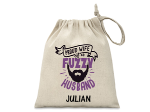 Beard Personalised Husband Man Washbag/Pouch - PureEssenceGreetings