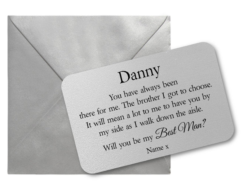 Will You Be My Best Man Wallet Card