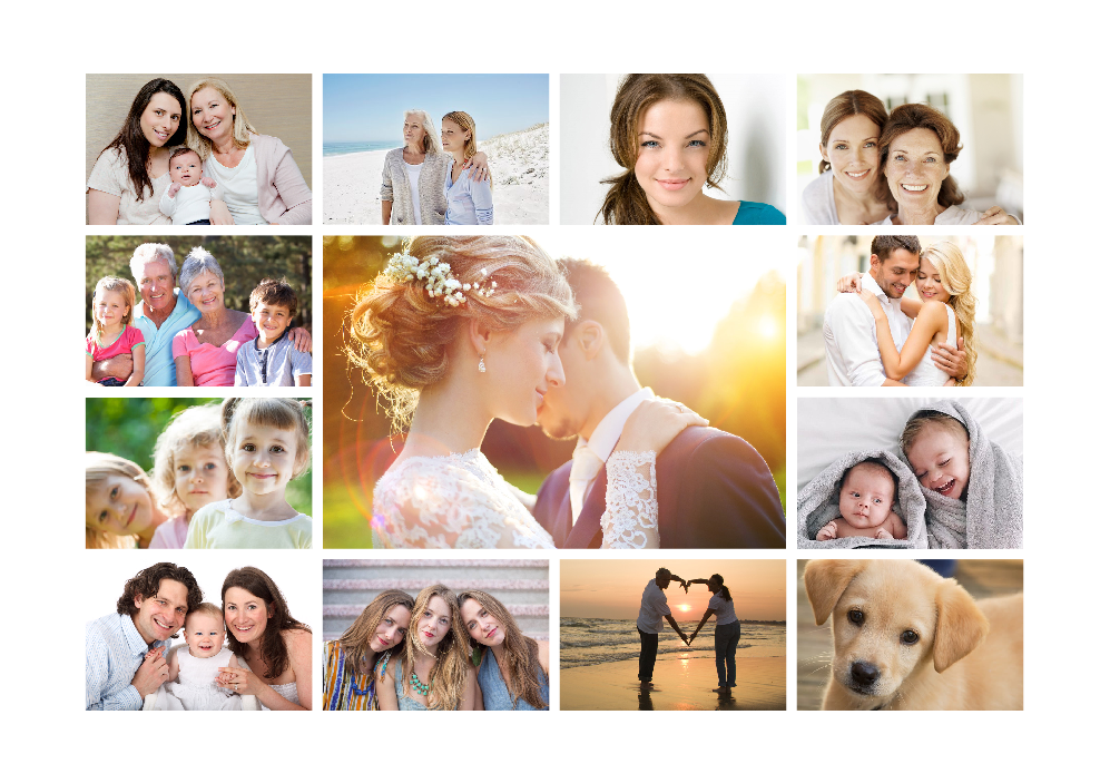 Photo Collage Personalised Poster - PureEssenceGreetings