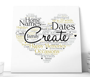 Personalised Word Art Ceramic Plaque | Own Text