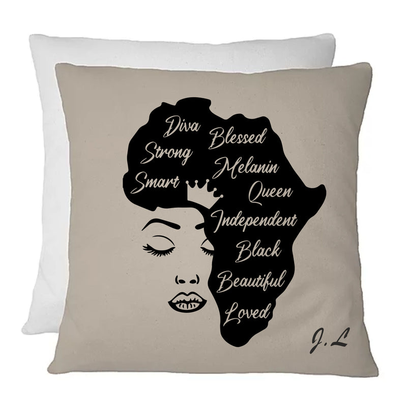 African Queen Personalised Cushion - PureEssenceGreetings
