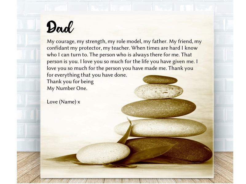 Father Poem Personalised Ceramic Plaque - PureEssenceGreetings