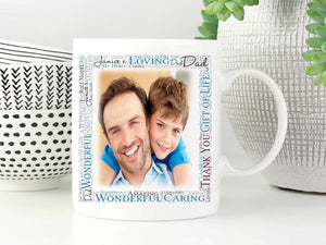 Personalised Father/Grandfather's Ceramic Photo Mug - PureEssenceGreetings