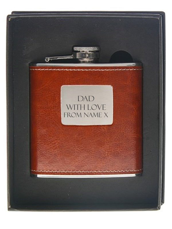 Dad Personalised Hip Flask