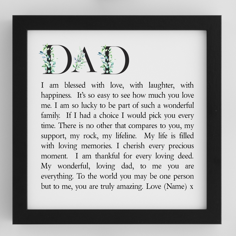 Dad Framed Personalised Poem - PureEssenceGreetings