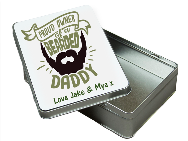 Bearded Dad Personalised  Tin - PureEssenceGreetings