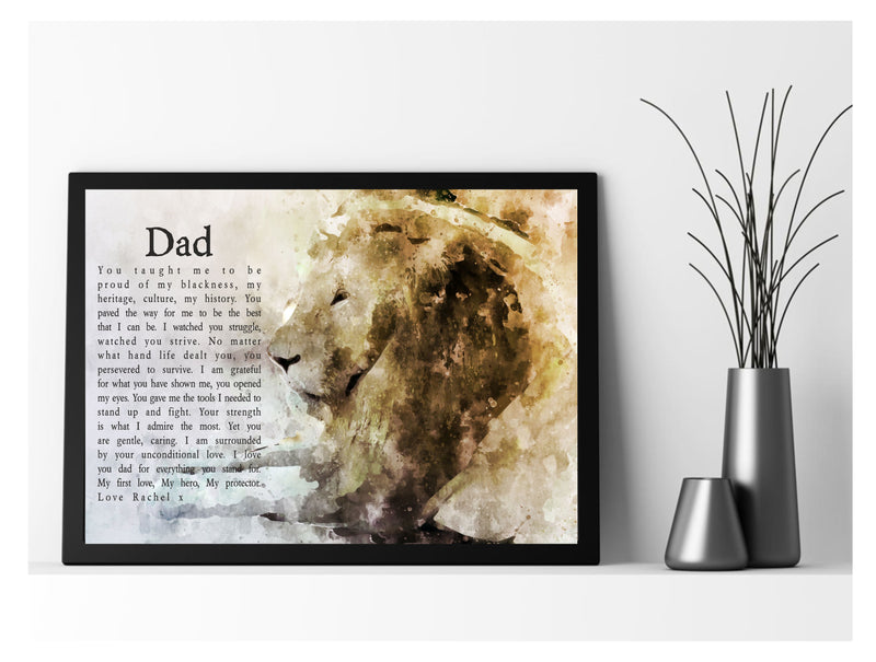My Hero My Dad Framed Framed Personalised Poem - PureEssenceGreetings