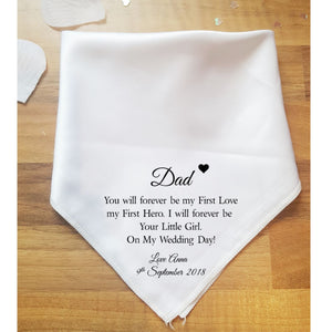 First Love Father of the Bride Handkerchief