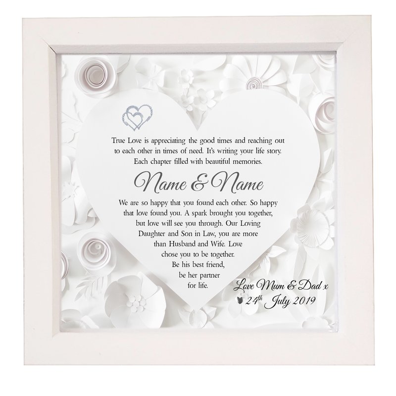 Daughter & Son in Law Framed Personalised Verse - PureEssenceGreetings
