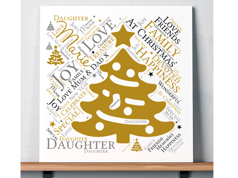 Daughter Personalised Christmas Card - PureEssenceGreetings