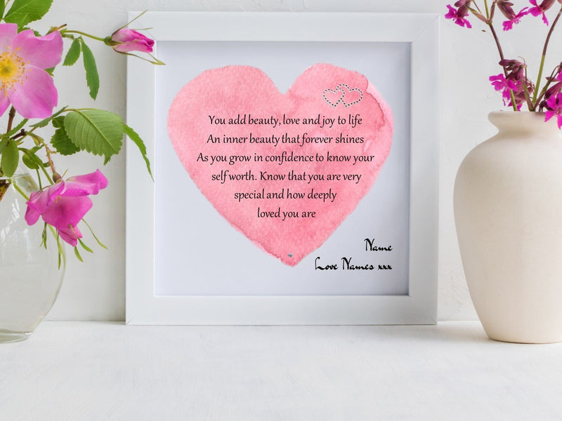 'You are Deeply Loved' Framed Daughter Poem - PureEssenceGreetings