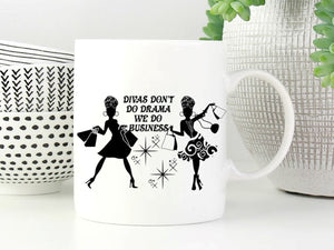 Divas Mean Business Personalised Mug - PureEssenceGreetings