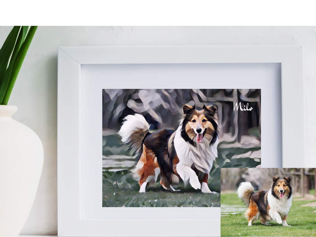 Personalised Pet Studio Digitally Designed Framed Artwork - PureEssenceGreetings