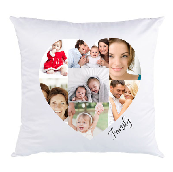 Faux Silk Photo Collage Cushion | Personalised