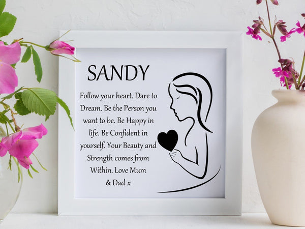 Dare to Dream Framed Personalised Poem - PureEssenceGreetings